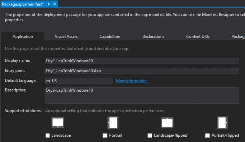 Windows 10 Screen Orientations