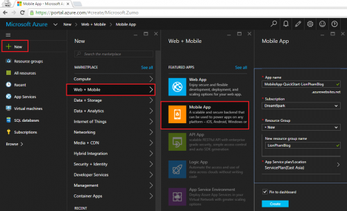 Free Microsoft Azure Mobile Apps