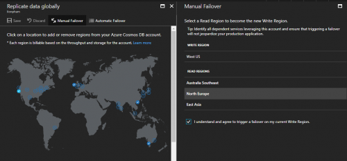 Azure Cosmos DB Manual Failover